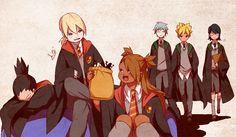 Shikadai, Inojin, Chocho, Misaki, Boruto, and Sarada - Harry Potter #parody