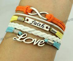 infinity wish bracelet love bracelet colour by Goodlife188, $5.59