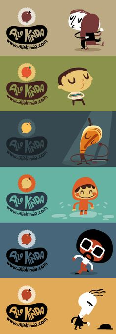 A set of animated GIFs by the duo Alla Kinda from Barcelona – Shoes World Simple Character, Character Concept, 2d Character, Flat Illustration, Character Illustration, Pirate Illustration, Web Design, Game Design, Gif Animé