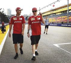 It's kinda weird seeing Kimi doing the track walk with the rest of the team! Seems he is having fun!  ________  Don't forget to check our Kimi t-shirts. New designs are out. Link of our Kimi store is in the description of our page!  These are LIMITED EDITIONS, so buy now! Tip: Tell your friend about this product, order together and save on shipping! ________ #KimiRaikkonen #F1 #Kimi #Raikkonen #Ferrari #ScuderiaFerrari #Vettel #Alonso #Hamilton #Rosberg #Verstappen #Button #McLaren #Merce...