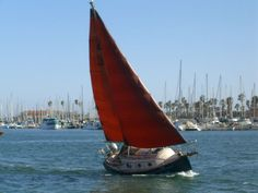 flicka 20 sailboat | The Flicka rail down in 15-20 knots in Ventura Harbor