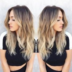 Blonde-Balayage-Hairstyle-Dark-Brown-to-Blonde