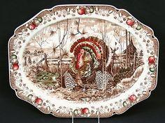 His Majesty, Johnson Brothers large turkey platter, I love mine!