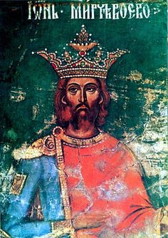 "Mircea the Elder, ruler of Wallachia (from 1386 until 31 January 1418) and grandfather of Vlad Ţepeş (Dracula, or the Impaler). The ""bravest and ablest of the Christian princes"", as he was described by German historian Leunclavius, ruled Wallachia for 32 years. Apart from his military success, Mircea was an art lover, leaving among other monuments, the beautiful Cozia Monastery."