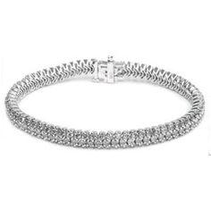 8.00 Karat Diamant Armband aus 585er Weißgold gefertigt - Dieses Diamant Armband ist für nur 9230.00 Euro bei www.juwelierhausabt.de erhältlich.