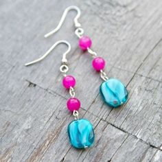 Make these simple beaded earrings with only a few jewelry supplies