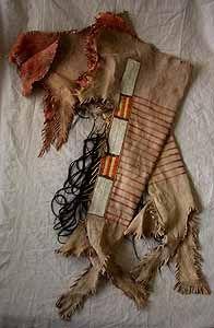 Plains Indian (Mandan), Man's Quilled Leggings
