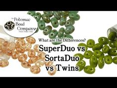 ▶ SuperDuo vs SortaDuo vs Twin Beads - YouTube Free Jewelry Making Tutorials from The Potomac Bead Company: http://www.potomacbeads.com http://www.thebeadco.com http://www.youtube.com/PotomacBeadCo
