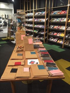 Daycraft accessories and notebooks on display at Magnation Emporium in Melbourne. Bookstores, Outlets, Notebooks, Melbourne, Retail, Display, Accessories, Floor Space, Billboard