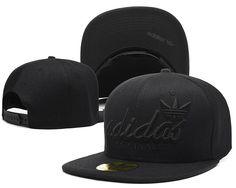 b204dfd4f5e8 Mens Adidas Originals Script Adidas Logo Front Best Quality Black Tonal Baseball  Snapback Cap - All