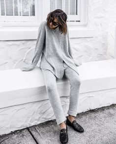 bce3a7bf902 Relaxed weekend knits with @oskarthelabel Shop via link in bio #ootd  #weekend #