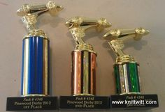 Pinewood Derby Trophies $6