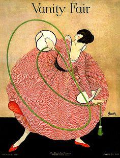 Art Deco Flapper-Vanity Fair (by finsbry) Art Deco Illustration, Mode Vintage Illustration, Magazine Illustration, Art Vintage, Vintage Vanity, Vintage Vogue, Vintage Fashion, Retro Art, Vanity Fair Magazine