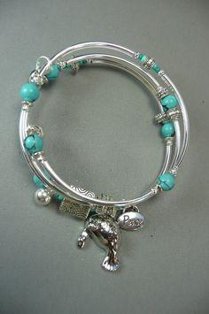 manatee bracelet holiday gift word jewelry by MoonHeartStudios