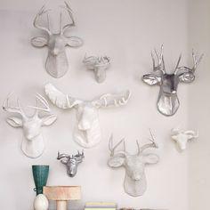 silver ? // paper mache animal head - Google Search