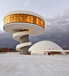 The Oscar Niemeyer International Cultural Centre in Aviles, Spain