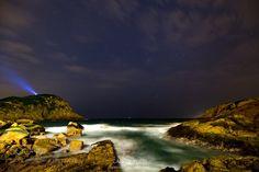 Starry moment Shek O Rocks Beach by carloyuen