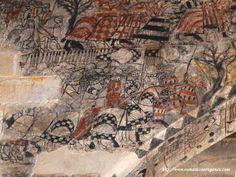 Castillo Calatravo de Alcañiz (Spain)  Pinturas murales góticas