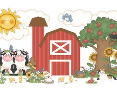 FARM ANIMAL DECALS Stickers Mural Wall Art Baby by decampstudios
