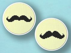 moustache cross stitch