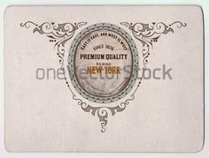 Premium card. Baroque frame and floral details. Old paper texture background