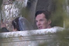 Benedict Cumberbatch & Sophie Hunter at their wedding in Mottistone, England, on February 14, 2015.