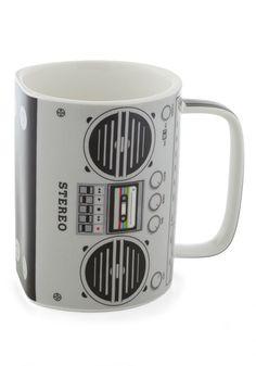 My Cup of Tea Mug - Grey, 80s, Music, Novelty Print *I WANT THIS!!!*