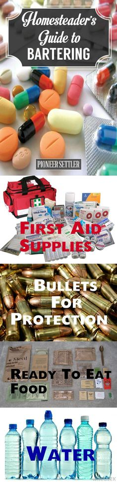 What To Barter When The SHTF | Homesteading Emergency Preparedness Tips and Ideas by Pioneer Settler at http://pioneersettler.com/homesteaders-guide-bartering/