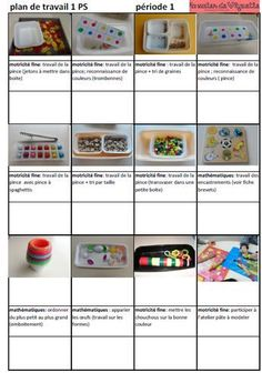 Voici le plan de travail , que j'ai mis en place cette année pour pouvoir suivre le travail de manipulation individualisé de chaque élève de Petite Section (PS) Games For Kids, Activities For Kids, Montessori Activities, Card Patterns, Preschool Kindergarten, Home Schooling, Primary School, Art Education, Place