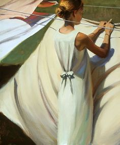 Jeffrey T. Larson, American painter (b.1962). 'Light Winds' Oil on canvas (c.2000)