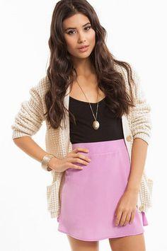 Around The Globe Skirt in Lavender, Peach, Mint, Rust $30 at www.tobi.com
