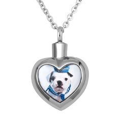 LuckyJewelry Pet Dog Animal Heart Cremation Jewelry Urn Pendant Memorial Ash ... #LuckyBrand