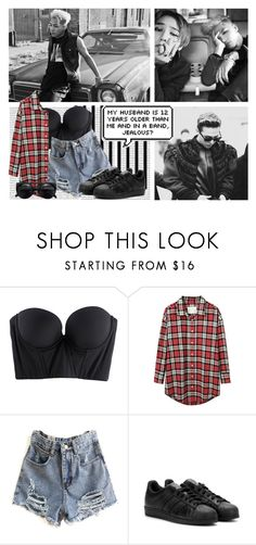 """""""G-Dragon and Taeyang"""" by rebekahsalvadore ❤ liked on Polyvore featuring Oris, Forum, Cosabella, R13 and adidas"""