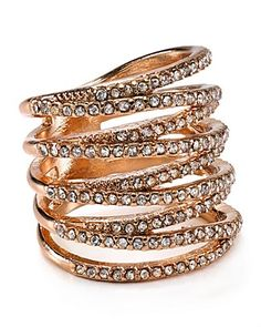 @baublebar's  Twister Ring doesn't skimp on sparkle with multiple pavé-encrusted bands twisted into a single silhouette.