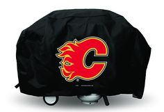 Calgary Flames Economy Barbecue/BBQ Grill Cover Bbq Grill, Barbecue, Grilling, Hockey Teams, Fan Gear, Calgary, Nhl, Cover, Awesome
