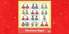 British Sign Language Christmas Signs
