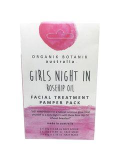 Organic Pamper Pack - Girls Night In - Rosehip Oil  #Luxury #thefragranceroom #premiumquality #reed #diffuser #sale #soy #candles #oils #madeinaustralia