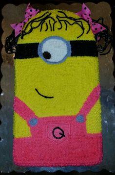 Little girl minion cake