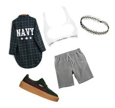 """Untitled #24"" by ash1243 on Polyvore featuring Stussy, Calvin Klein Underwear and Puma"