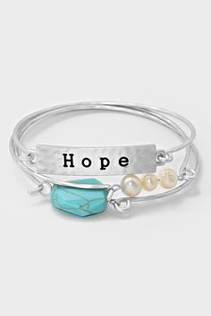 Turquoise Hope Bracelet in Silver