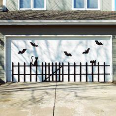 Bat and Cat Garage Door Design