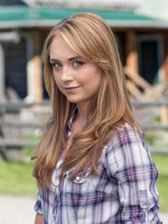 Amber Marshall as Amy Fleming in Heartland. love the hair Heartland Actors, Watch Heartland, Heartland Amy, Heartland Ranch, Heartland Seasons, Heartland Quotes, Heartland Characters, Amber Marshall, Marshall Lee