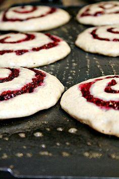 Raspberry Swirl Buttermilk Pancakes