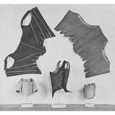 Stays  Britain, 1775-85  Silk damask, buckram interlining, whalebone (baleen), linen lining