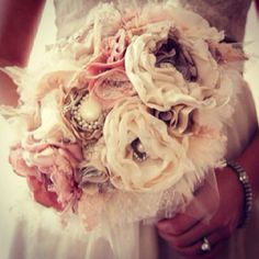 Fabric flower boquet