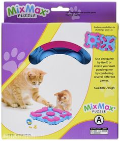 Nina Ottosson Mix Max Treat Puzzle Game for Cats, Easy Level -- Trust me, this is great! Click the image. : Cat toys
