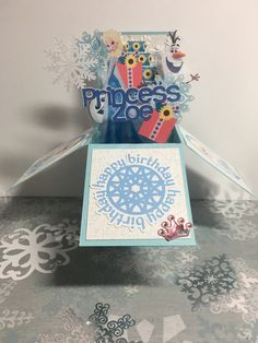 A personal favorite from my Etsy shop https://www.etsy.com/listing/268011391/frozen-birthday-card-pop-up-box