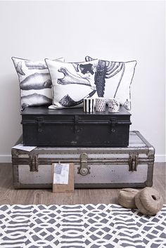 Number 19 's quirky whale bone cushions