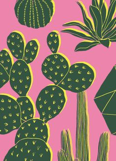 How Herb Back Garden Kits Can Get Your New Passion Started Off Instantly Hello Marine Art And Illustration, Kaktus Illustration, Motif Floral, Floral Patterns, Print Patterns, Cactus Art, Pattern Wallpaper, Art Inspo, Printmaking