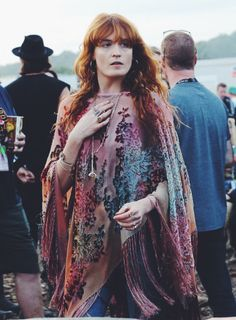 The Queen of Peace, aka Florence Welch, gracing Glastonbury Festival with her presence today. (2015)